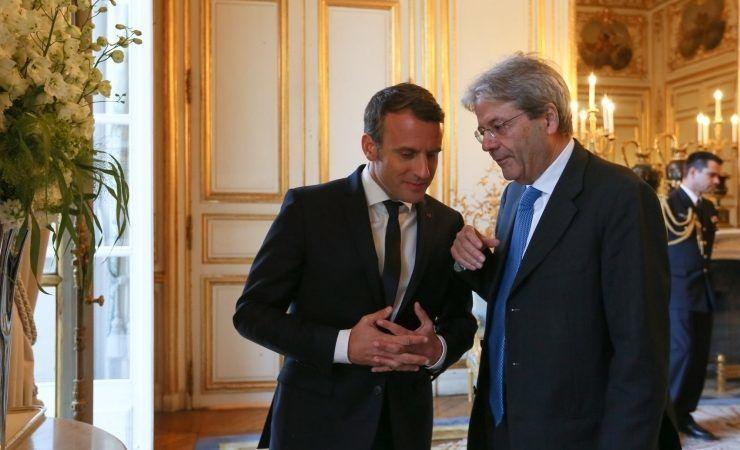 Emmanuel Macron i Paolo Gentiloni