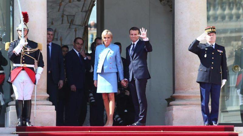 Brigitte i Emmanuel Macron, francuska para prezydencka