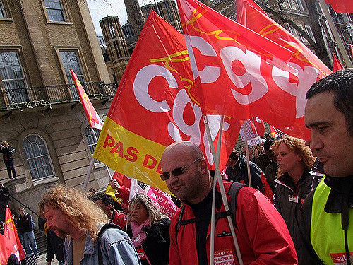 Protest CGT, źródło: Flickr