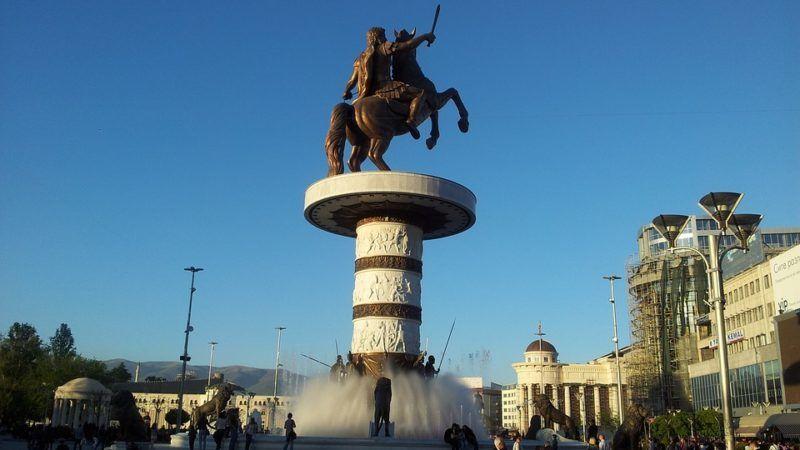 Pomnika Aleksandra Wielkiego w Skopje, żródło: Flicr