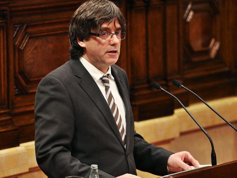 Przewodniczący katalońskich władz Carles Puigdemont, źródło Wikipedia