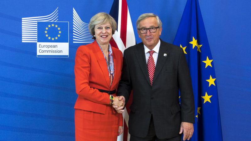 Theresa May i Jean-Claude Juncker, źródło Flickr