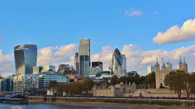 Biurowce w londyńskiej dzielnicy finansowej City, źródło Flickr