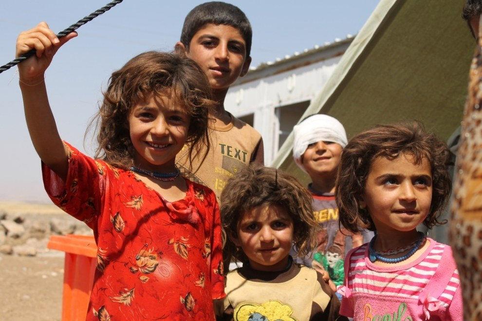 Irackie dzieci z terenów wyzwolonych spod władania Państwa Islamskiego, źródło Flickr
