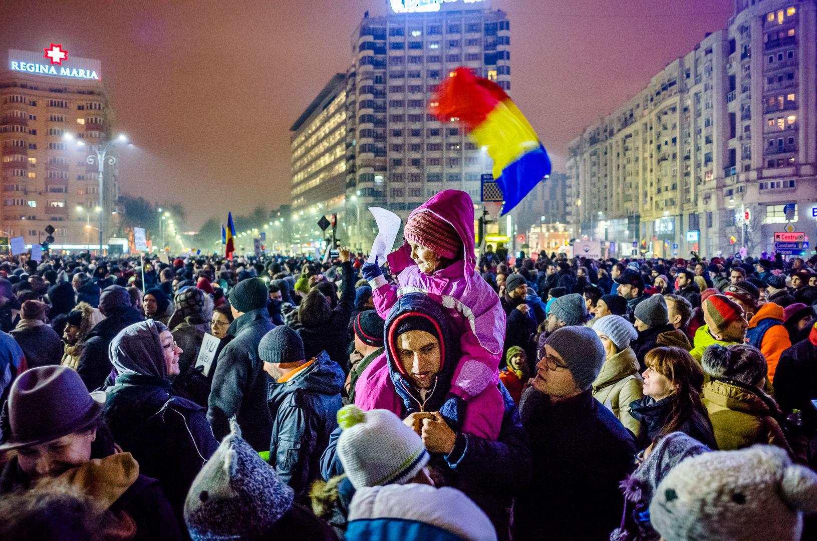 Protest w Rumunii, źródło Wikipedia