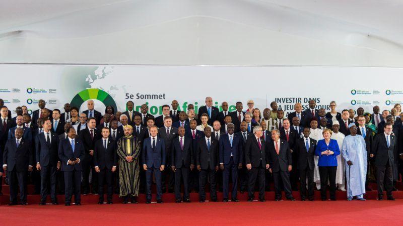 Uczestnicy 5. Szczytu Unia Afrykańśka - Unia Europejska w Abidżanie w Wybrzeżu Kości Słoniowej, źródło European Union Audiovisual Services