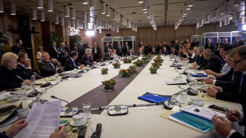Europejscy przywódcy podczas drugiego dnia obrad w Brukseli, źródło European Council