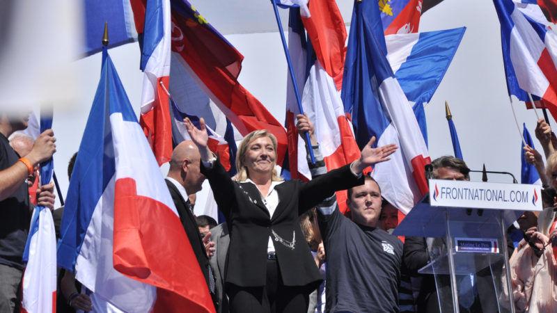 Marine Le Pen podczas wiecu Frontu Narodowego, źródło Flickr